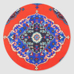 Antique Turkish Textiles Carpets Rugs Kilims Round Sticker