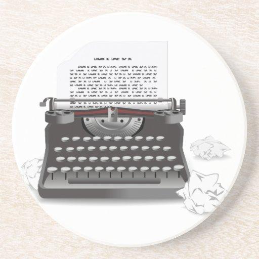 Antique Typewriter Beverage Coasters