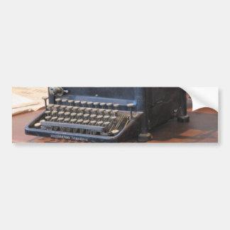 Antique Typewriter Bumper Sticker