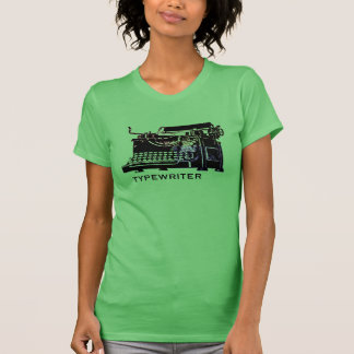 Antique Typewriter etching T-shirt Design