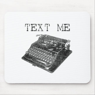 Antique Typewriter illustration Mouse Pads