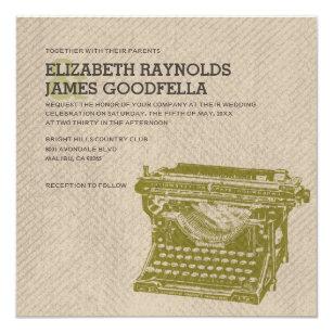 Typewriter Wedding Invitations Zazzle