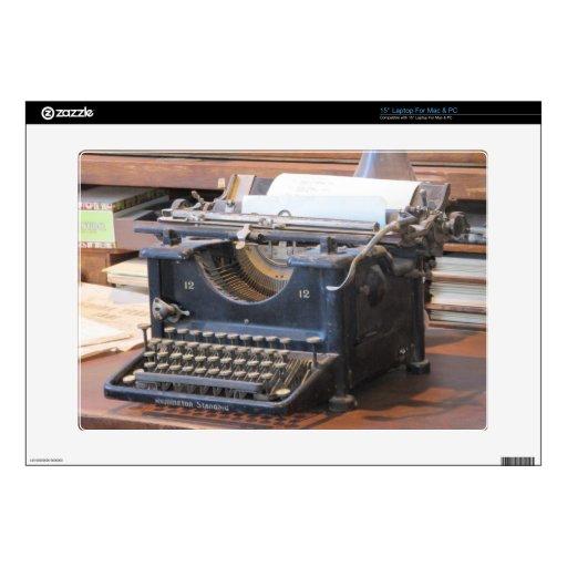Antique Typewriter Laptop Skin