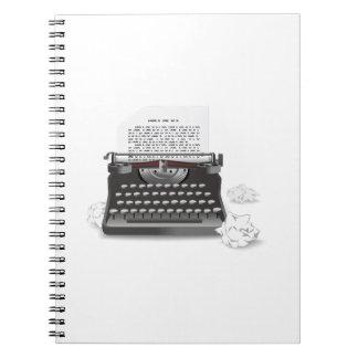 Antique Typewriter Notebooks