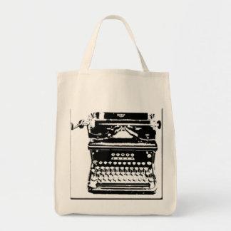 Antique Typewriter oragnic tote