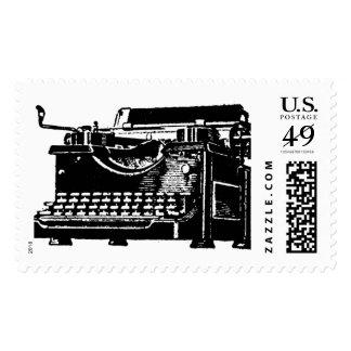 Antique typewriter Postage stamps