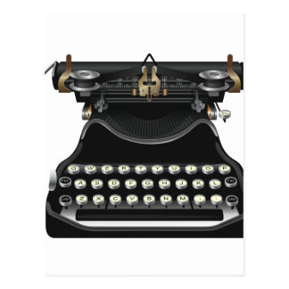 Antique Typewriter Postcard