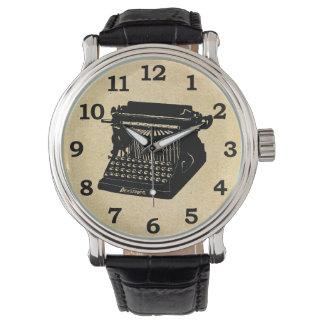 Antique Typewriter Vintage Picture Wrist Watch