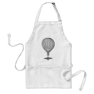 Antique UFO Balloon 1 Adult Apron
