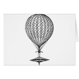 Antique UFO Balloon 1 Card