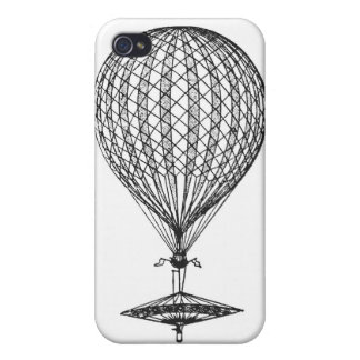 Antique UFO Balloon 1 Cases For iPhone 4