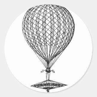 Antique UFO Balloon 1 Classic Round Sticker