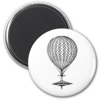 Antique UFO Balloon 1 2 Inch Round Magnet