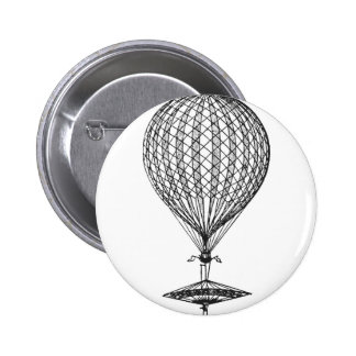 Antique UFO Balloon 1 Pinback Buttons