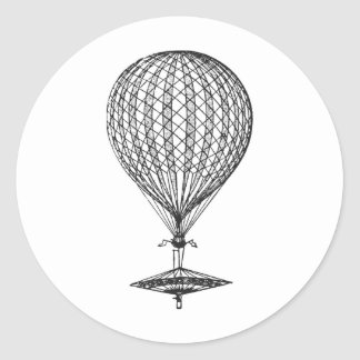 Antique UFO Balloon 1 Sticker