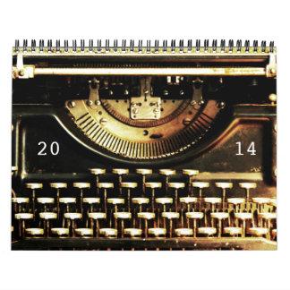 Antique Underwood Typewriter 2014 Calendar