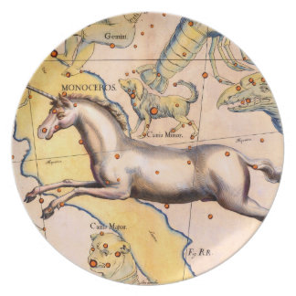 Antique Unicorn Horse Art Vintage Wall Decor Dinner Plate