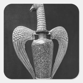 Antique vase transformed to a liturgical ewer square sticker