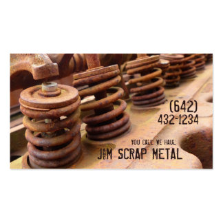 Antique Vehicle  Engine Scrap Metal Biz Double-Sided Standard Business Cards (Pack Of 100)