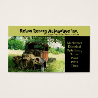 Antique Vehicle  Old Truck  Repair Shop Business Card