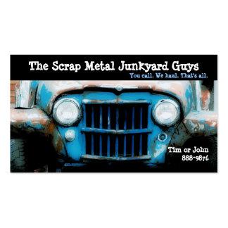 Antique Vehicle  Scrap Metal Biz Business Card Template