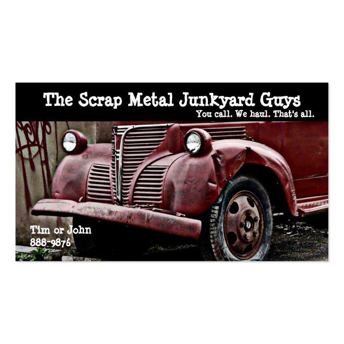 Vehicle Scrap Metal Biz Business Card Templates