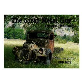 Antique Vehicle  Scrap Metal Biz Large Business Card