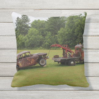 Antique Vehicles Summer 2016 Outdoor Pillow