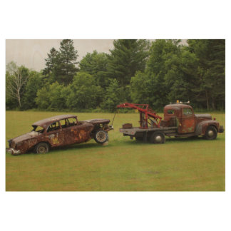 Antique Vehicles Summer 2016 Wood Poster