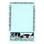 ANTIQUE VESSEL AND LOVERS Ruby Gem Black Teal Blue Stationery