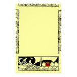 ANTIQUE VESSEL AND LOVERS Ruby Gem Black Yellow Stationery