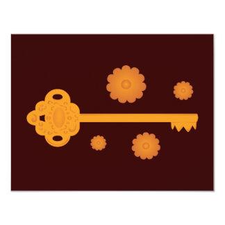 Antique Victorian Brass Key Card