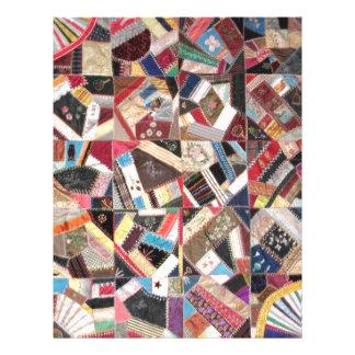 Antique, Victorian-Era, Crazy Quilt Letterhead