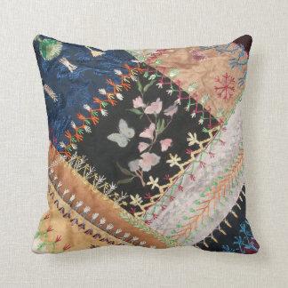 Victorian Era Pillows : Crazy Quilt Pillows - Crazy Quilt Throw Pillows Zazzle