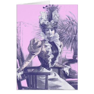 Antique Victorian Fashion Plate Greeting Card
