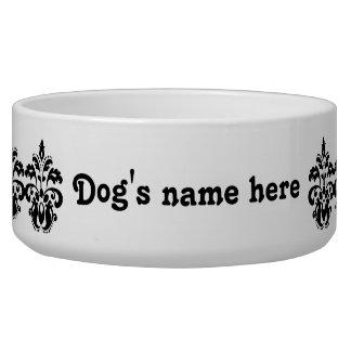 Antique victorian lolita damask motif pet bowls