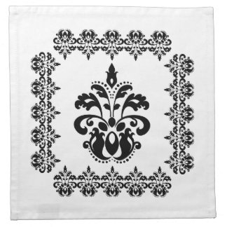 Antique victorian lolita damask pattern cloth napkin