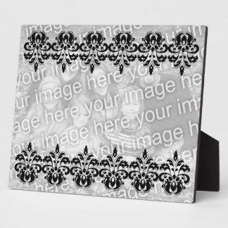 Antique victorian lolita damask pattern plaque