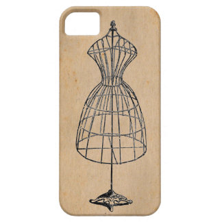 Antique Victorian Steampunk Wire Lady Dress Form iPhone 5 Covers