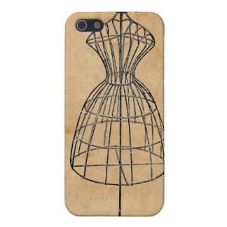 Antique Victorian Steampunk Wire Lady Dress Form iPhone 5 Cases