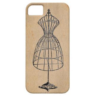 Antique Victorian Steampunk Wire Lady Dress Form iPhone SE/5/5s Case