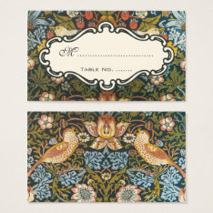 Antique Victorian Wedding Floral Bird Table Number Business Card at Zazzle