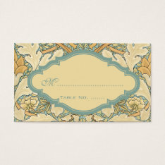 Antique Victorian Wedding Floral Table Numbers Business Card at Zazzle