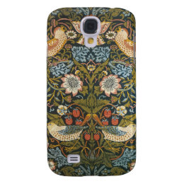 Antique Victorian William Morris Flowers Birds Samsung S4 Case