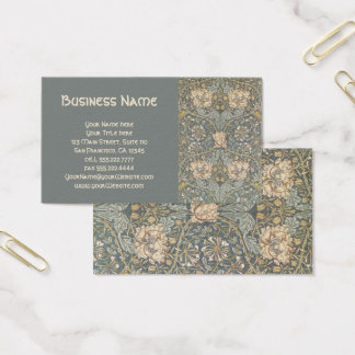Antique Victorian William Morris Flowers Floral Business Card
