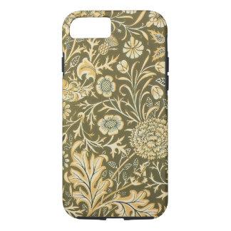 Antique Victorian William Morris Garden Flowers iPhone 7 Case