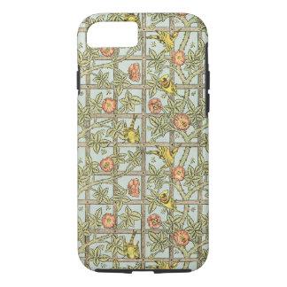 Antique Victorian William Morris Trellis Flowers iPhone 7 Case