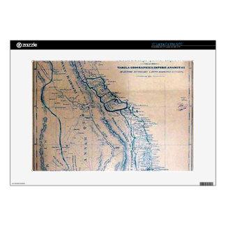 """Antique Vietnamese map 15"""" Laptop Skin"""