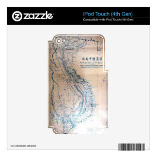 Antique Vietnamese map Decal For iPod Touch 4G