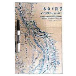 Antique Vietnamese map Dry-Erase Board